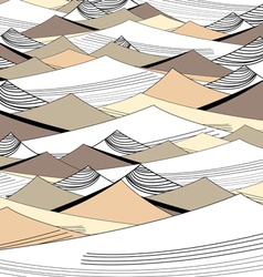 background of the graphic dunes vector image vector image