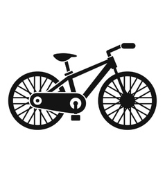 Bicycle icon simple style vector image vector image