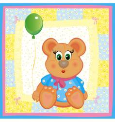 card for baby girl vector image vector image