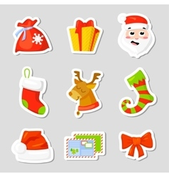 Christmas Icon Set Collection cartoon New vector image