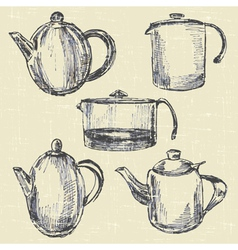 Coffee pots vector