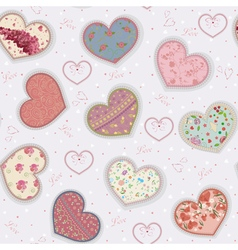 Colorful hearts vector image