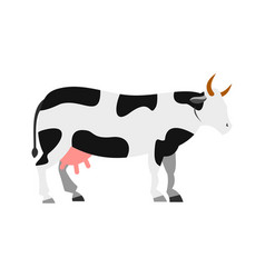 cow icon flat style vector image