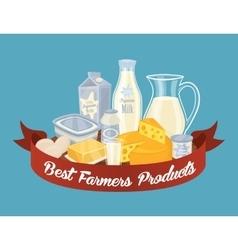 Dairy milk composition vector