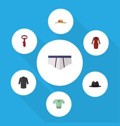 Flat clothes set of underclothes casual uniform vector