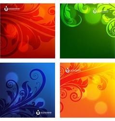 Floral background set vector