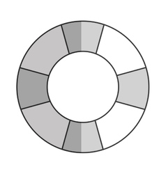 Grey lifesaver icon vector