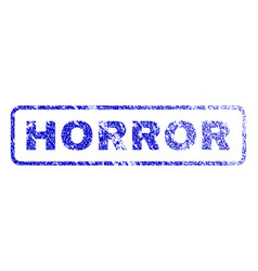Horror rubber stamp vector