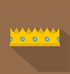 Little crown icon flat style vector