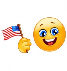 patriot emoticon vector image