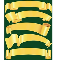 Ragged gold banners set vector image vector image