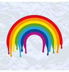 rainbow arc painted on old paper vector image vector image