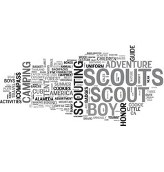 scouting word cloud concept vector image vector image
