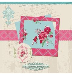 Scrapbook Design Elements - Vintage Flower Card vector image