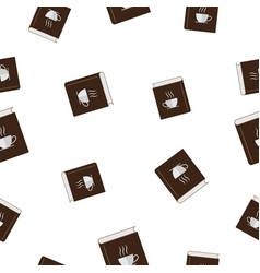Seamless pattern with coffee book vector