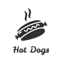 Simple web icon in hot dog vector image vector image