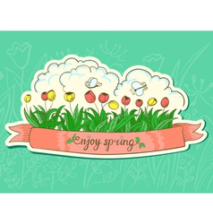 Spring sticker vector image