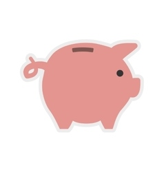 Piggy icon money and financial item vector