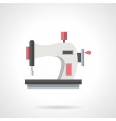 Hand sewing machine flat color icon vector