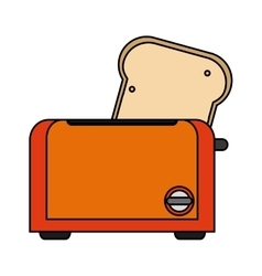 Isolated toaster machine design vector