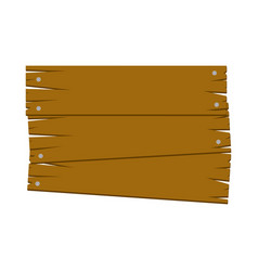 Brown wood notices icon vector