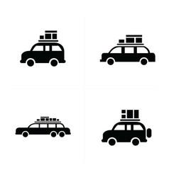 Van logistics and transport icons vector