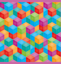 Stack of colorful baby blocks seamless 3d vector