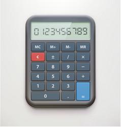 Realistic electronic calculator vector