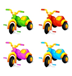 Child 3-wheel car vector