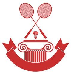 Badminton vector
