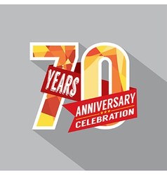 70th years anniversary celebration design vector