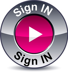 Sign in round button vector