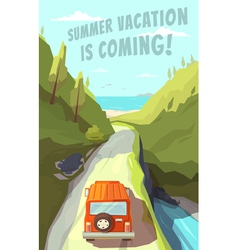 Summer vacation is coming vector