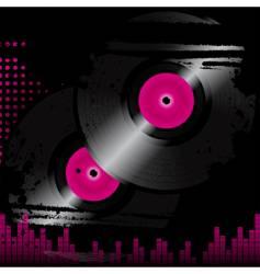 grunge vinyl vector image