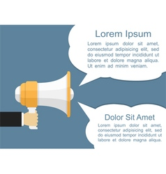 Megaphone with speech bubbles vector