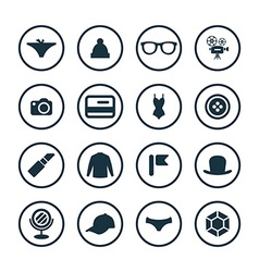 Accessories icons universal set vector
