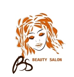 Hairstyle card for beauty salon in with vector