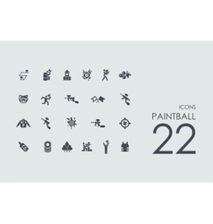 Set of paintball icons vector