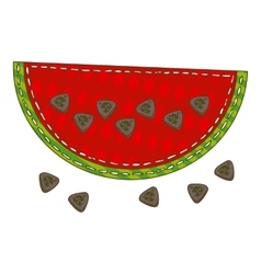 Isolated patchwork watermelon vector
