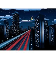 Night City Road vector image