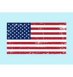 Flag usa sign grunge national symbol freedom vector