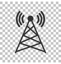 Antenna sign  dark gray icon on vector