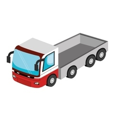 Vehicle transport isolated 3d icon vector