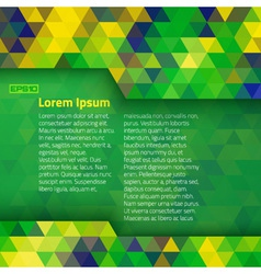 Abstract geometric background using brazil flag co vector