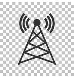 Antenna sign Dark gray icon on vector image vector image