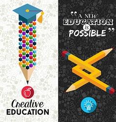 Back to school creative banner vector image vector image