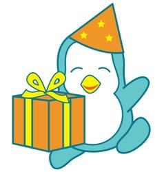 Birthday penguin vector