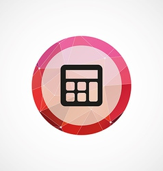 calculator circle pink triangle background icon vector image vector image