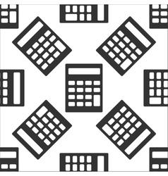 Calculator icon pattern vector image