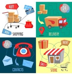 Design concept of e-commerce vector